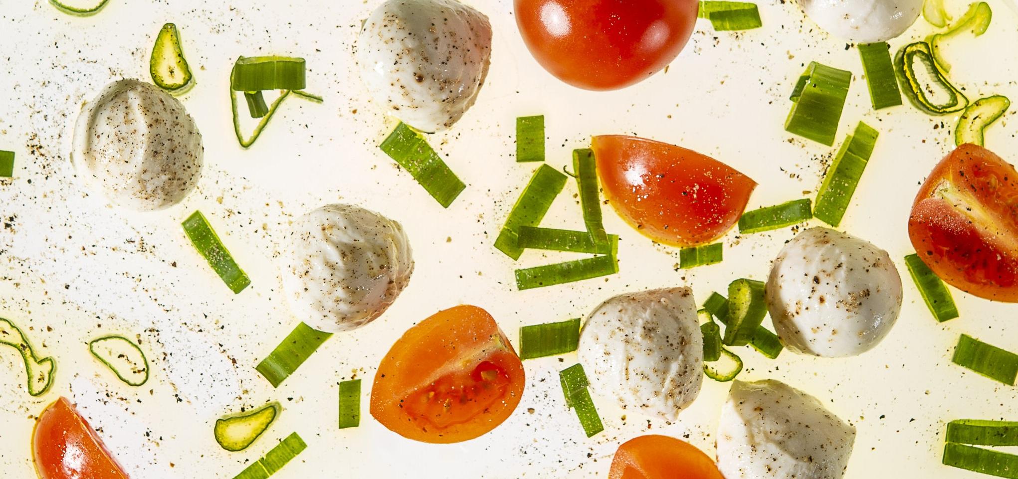 Mozzarella-Bällchen-Salat